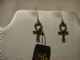 Alchemy Gothic ear rings in pewter  Ankh Of Osiris.